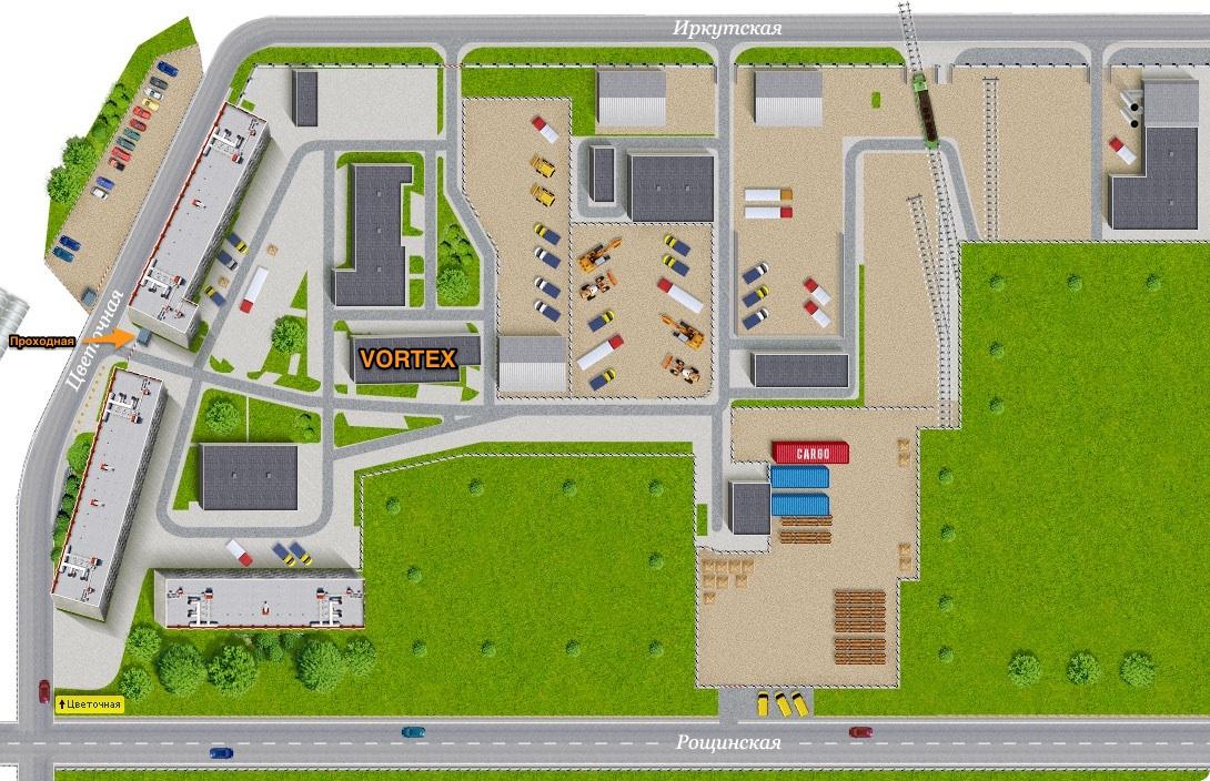 карта расположения офиса Бионика
